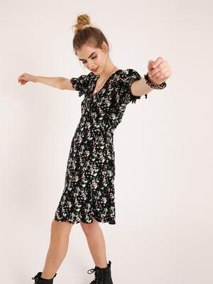 Сукня чорна в квітковий принт   5488124