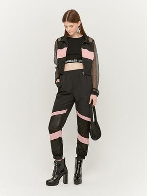 Штани чорно-рожеві | 5488214