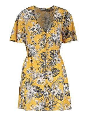 Сукня гірчичного кольору в квітковий принт | 5488222