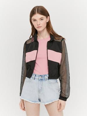Кофта черно-розовая | 5488236