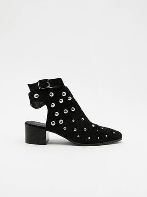 Босоножки черные с декором | 5488242