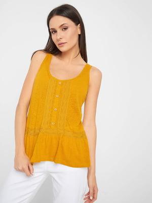 Блуза гірчичного кольору | 5488451