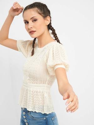 Блуза молочного цвета   5488483