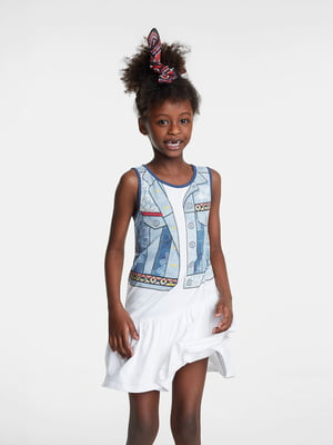 Сукня біла з принтом | 5488527