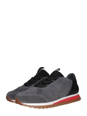 Кроссовки серо-черные | 5485278