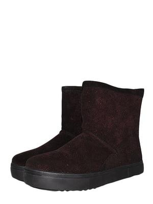 Ботинки бордовые | 5490113