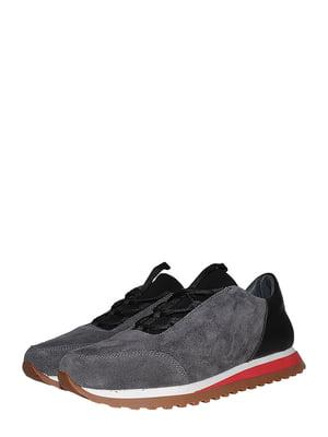 Кроссовки серо-черные   5490151