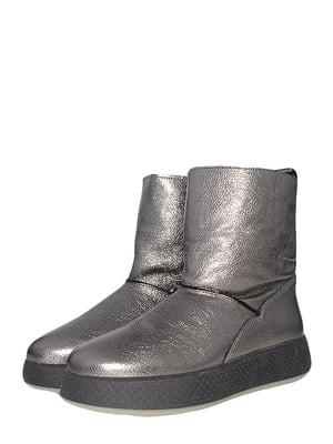 Ботинки стального цвета | 5490263