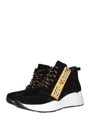 Ботинки черно-желтые | 5490296