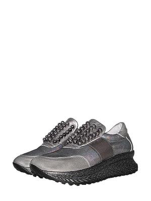 Кросівки сталевого кольору | 5490353