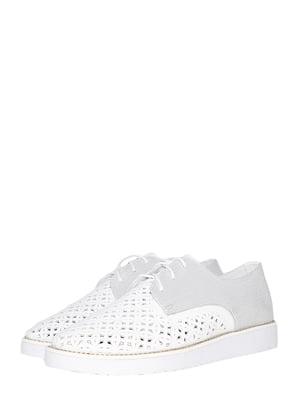 Туфли бело-серебристого цвета | 5490374