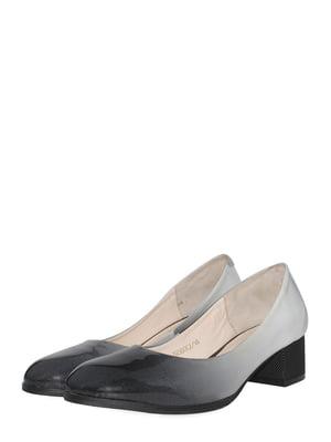 Туфлі чорно-сірі | 5490408