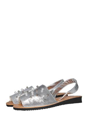 Босоніжки сріблястого кольору | 5488019