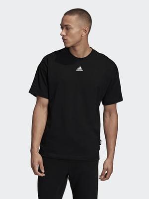 Футболка чорна з логотипом | 5490229