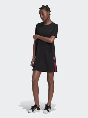 Платье черное с логотипом | 5490232
