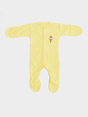 Чоловічок жовтий з принтом   5490026