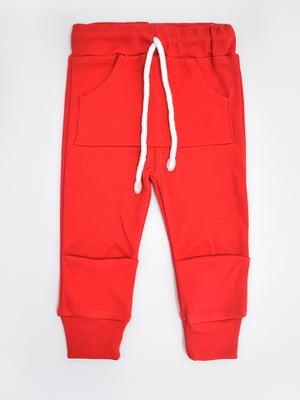 Штани домашні червоні | 5490094