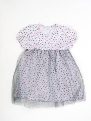 Сукня сіра з принтом | 5490101