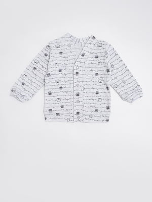 Сорочка сіра з принтом   5490102