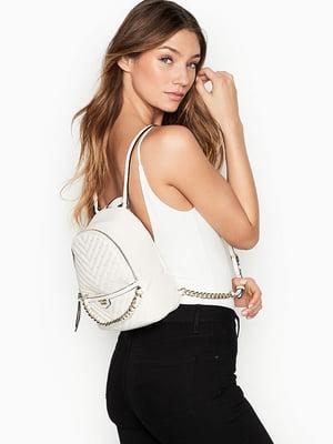 Рюкзак білий з декором | 5490912