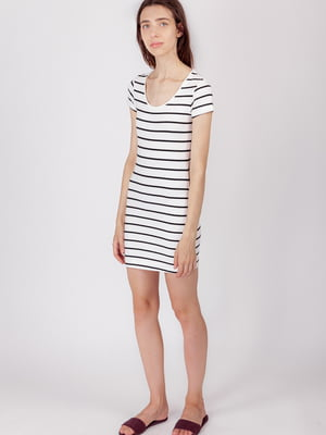 Платье белое в полоску | 5490720