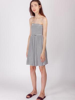 Платье белое в полоску | 5490742