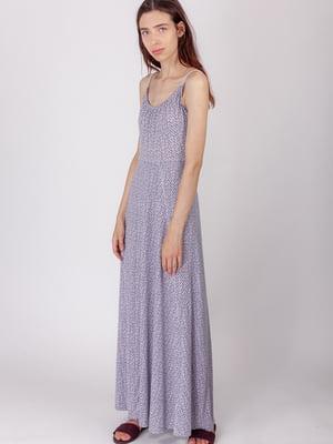 Платье синее в принт | 5490743