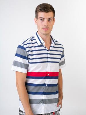 Рубашка белая в полоску | 5474670