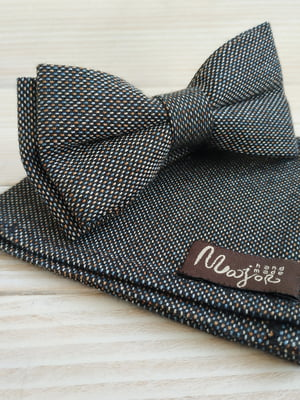 Набор: галстук-бабочка и платок «паше» | 5491061