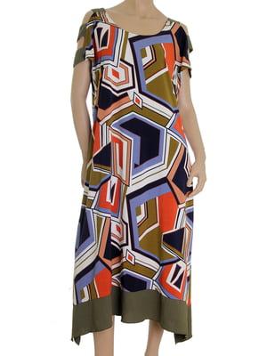Платье в абстрактную расцветку | 5491234