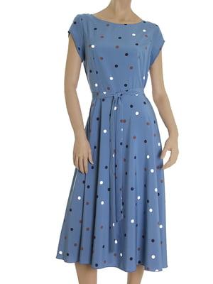 Платье голубое в горох | 5491236