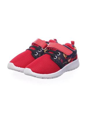 Кросівки червоні в принт | 5491552