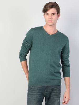 Пуловер зеленый | 5493689