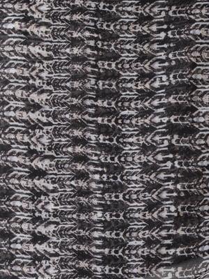 Шарф чорний з принтом | 5493719