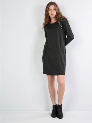 Сукня кольору антрацит | 5494277