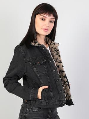 Куртка черная джинсовая | 5494388