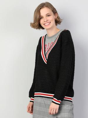 Пуловер чорний | 5494395
