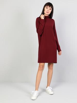 Платье бордовое | 5494437