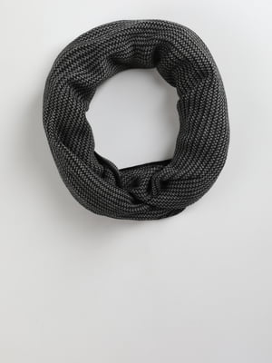 Шарф сіро-чорний | 5494499