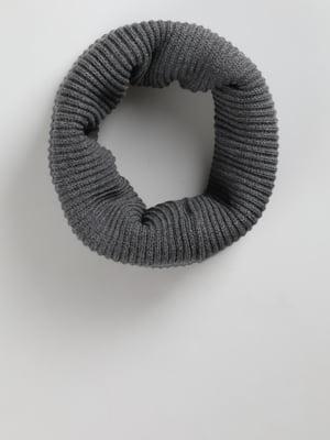 Шарф-хомут серый | 5494504