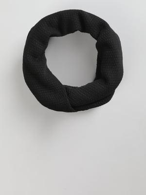 Шарф-хомут черный | 5494510