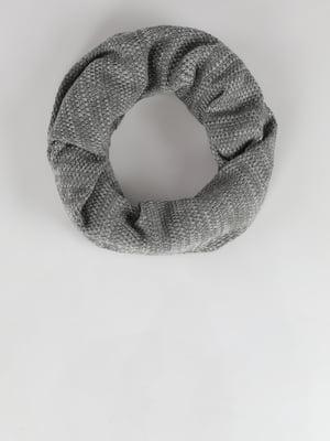 Шарф-хомут серый | 5494511