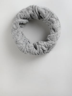 Шарф-хомут сірий | 5494525