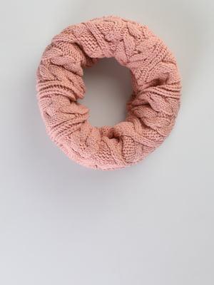 Шарф-хомут розовый | 5494526
