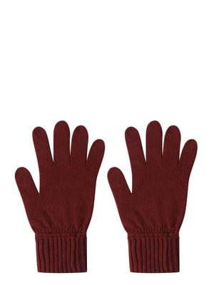 Перчатки бордовые | 5494535