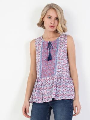 Блуза в цветочный прин | 5494911