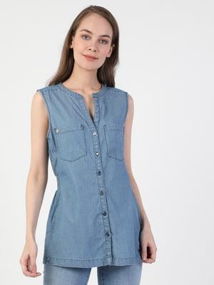 Блуза голубая | 5494987
