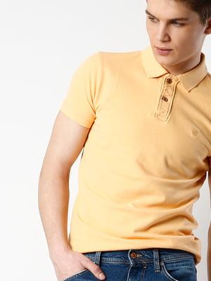 Футболка-поло светло-оранжевая | 5495003