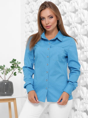 Рубашка бирюзовая с узором | 5491901