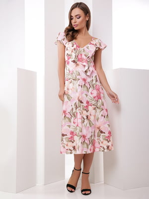 Платье в цветочный принт | 5491906